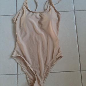 Swim - NWOT Padded Nude Monokini.